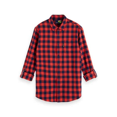 Scotch & Soda Herren Langarm Hemd Bright Check Flannel Shirt 155851