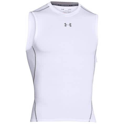 Under Armour Herren Kompressions-Shirt 1257469-100 XXL White, Graphite | XXL