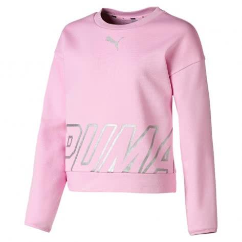 Puma Mädchen Pullover Alpha Crew Sweat TR G 854263 Pale Pink Größe 128,140,152,164,176