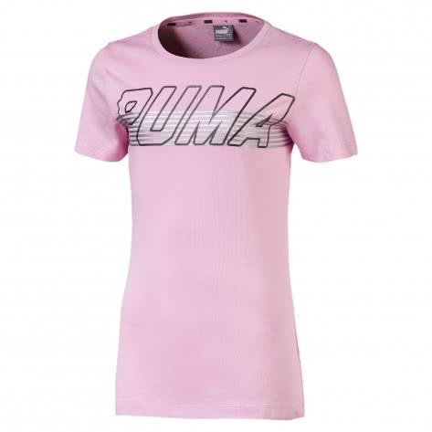 Puma Mädchen T-Shirt Alpha Logo Tee G 854244 Pale Pink Größe 128,140,152,164,176