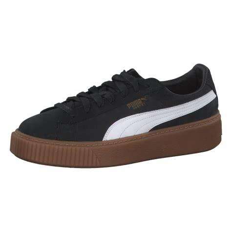Puma Damen Sneaker Basket Platform Perf GUM 366807-02 39 Puma Black-Puma White-Gold | 39