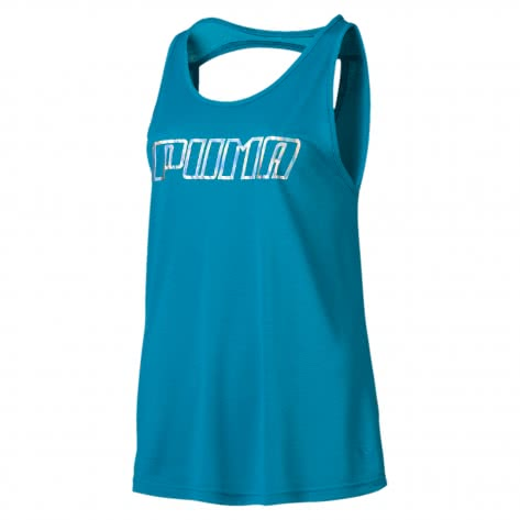 Puma Damen Tank Top Own ItTank 517394-12 S Caribbean Sea-PUMA wording | S