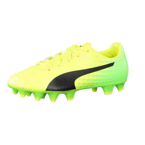 Puma Kinder Fussballschuhe evoSPEED 17.4 FG Jr 104030-01 38 Safety Yellow-Puma Black-Green Gecko | 38
