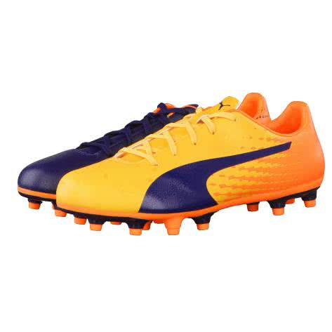 Puma Kinder Fussballschuhe evoSPEED 17.5 FG Jr 104033 Ultra Yellow Peacoat Orange Clown Fish Größe 28,33,34,35,36,37,37.5,38,38.5