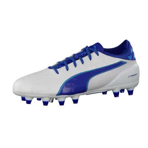 Puma Herren Fussballschuhe evoTOUCH 2 FG 103693-03 42 puma white-true blue-blue danu   42