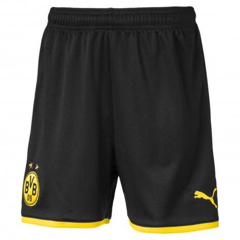 Puma Kinder Borussia Dortmund BVB Short Replica Jr 2019/20 755757-02 176 Puma Black-Cyber Yellow | 176