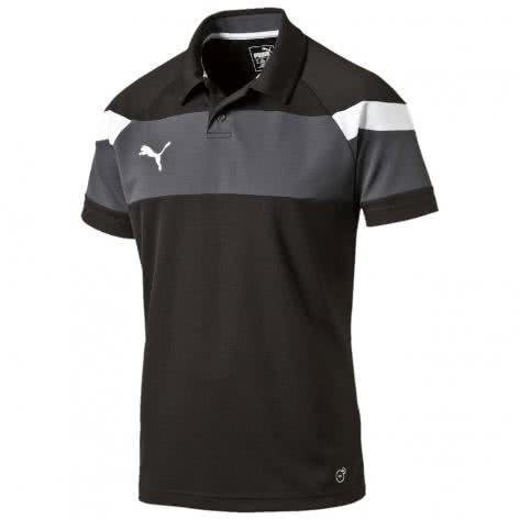 Puma Kinder Polo Shirt Spirit II Polo 654660 black white Größe 116,140,152