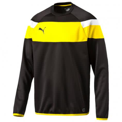 Puma Kinder Sweatshirt Spirit II Training Sweat 654656 black cyber yellow Größe 116