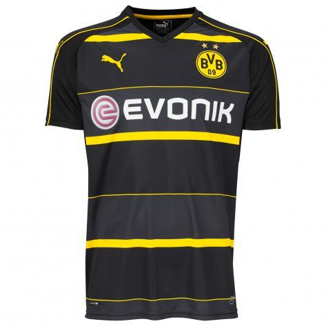 Puma Kinder Trikot BVB Borussia Dortmund Away 16 17 749830 black cyber yellow Größe 176