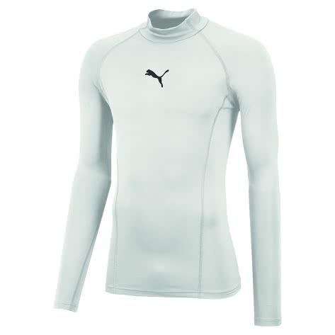 Puma Herren Kompressionsshirt Liga Baselayer Tee LS Warm 655922 Puma White Größe: L,M,S,XL,XXL