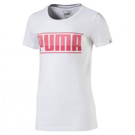 Puma Mädchen T-Shirt Style Graphic Tee 594961 Puma White Größe 164