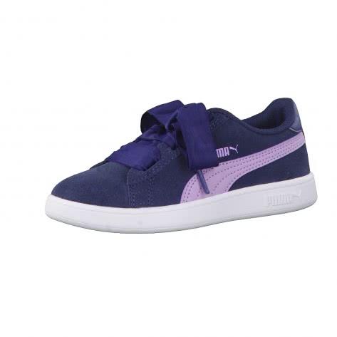 Puma Mädchen Sneaker Smash V2 Ribbon AC PS 366004 Sargasso Sea Purple Rose Größe 28