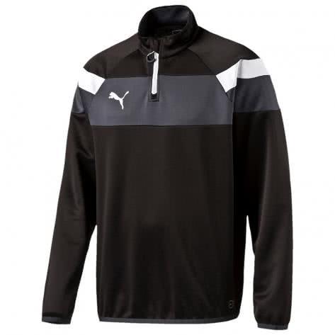 Puma Kinder Sweatshirt Spirit II 1 4 Zip Training Top 654657 black white Größe 116