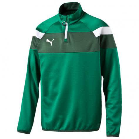 Puma Kinder Sweatshirt Spirit II 1 4 Zip Training Top 654657 power green white Größe 116