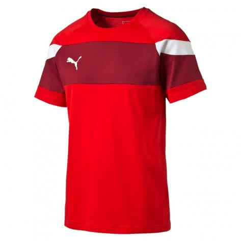 Puma Kinder T-Shirt Spirit II Leisure 654659 puma red white Größe 128,140,164,176
