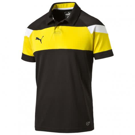 Puma Kinder Polo Shirt Spirit II Polo 654660 black cyber yellow Größe 128,140,152,164,176
