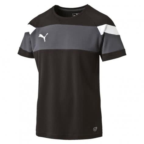Puma Kinder Trainingsshirt Spirit II Training Jersey 654655 black white Größe 128,140,152,164,176