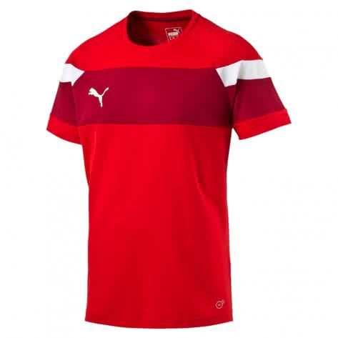 Puma Kinder Trainingsshirt Spirit II Training Jersey 654655 puma red white Größe 128,140,152,164