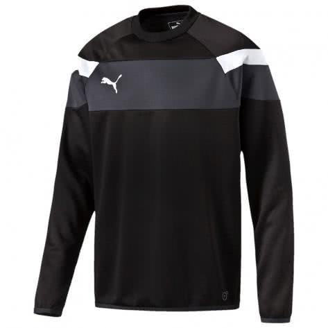 Puma Kinder Sweatshirt Spirit II Training Sweat 654656 black white Größe 116