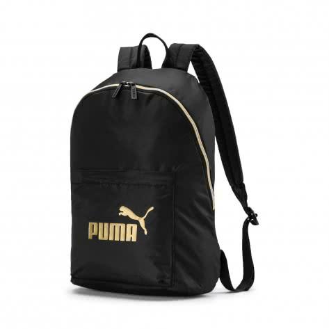 Puma Damen Rucksack WMN Core Seasonal Backpack 076573-01 One size Puma Black-Gold | One size