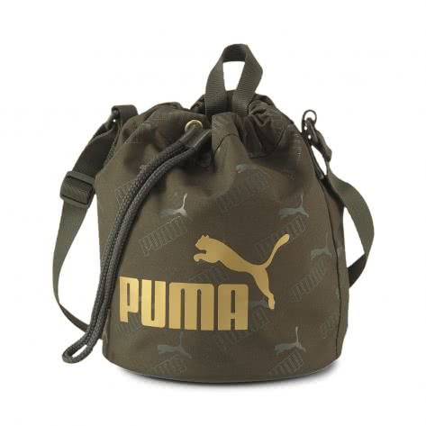 Puma Damen Tragetasche WMN Core Up Small Bucket Bag 077388-03 Forest Night | One size
