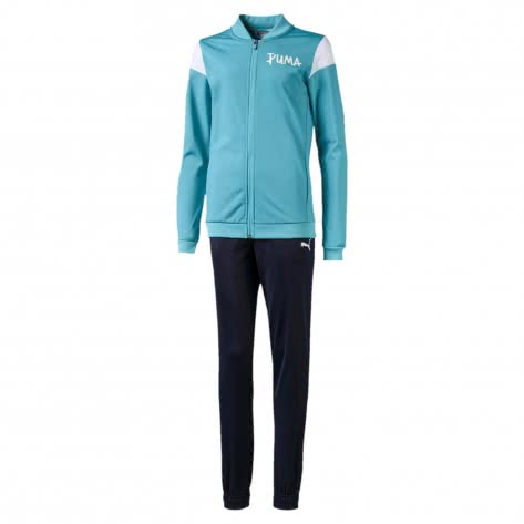 Puma Mädchen Trainingsanzug Poly Suit G 580200-45 104 Milky Blue | 104