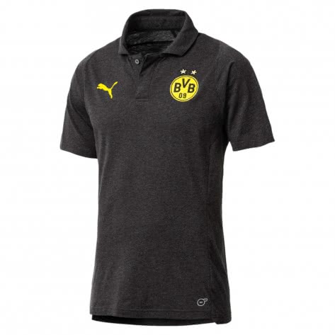 Puma Herren Borussia Dortmund BVB Casual Polo 753523-05 M Dark Gray Heather | M