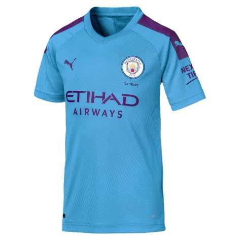 Puma Kinder Manchester City Home Trikot 2019/20 755588-01 176 Team Light Blue-Tillandsia Purple | 176