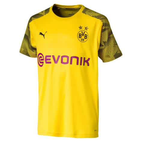 Puma Kinder Borussia Dortmund Triainings Trikot BVB Training Jersey 755777-01 176 Cyber Yellow-Puma Black | 176