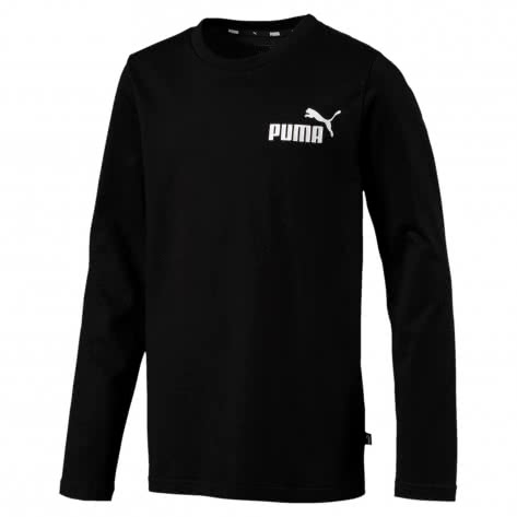 Puma Jungen Langarmshirt ESS Logo Longsleeve Tee B 852099-01 140 Cotton Black | 140