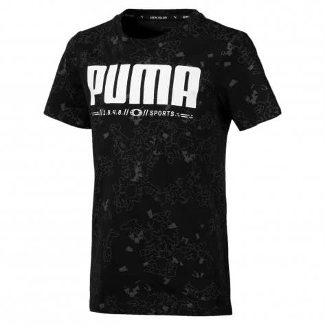 Puma Jungen T-Shirt Active Sports AOP Tee B 854406 Puma Black Größe 128,140,152,164,176