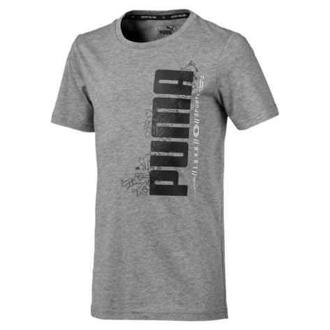 Puma Jungen T-Shirt Active Sports Basic Tee B 854408 Medium Gray Heather Größe 128,140,152,164,176