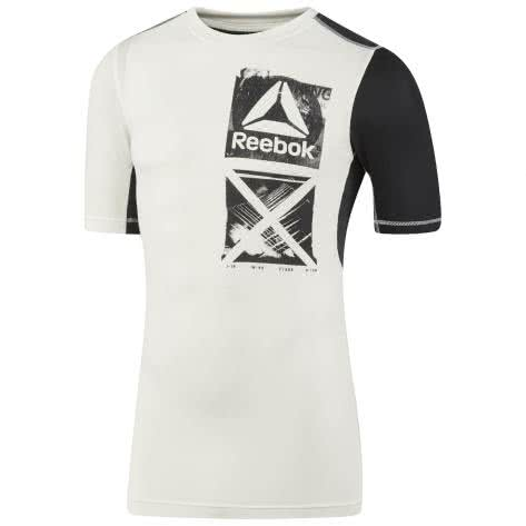 Reebok Herren Trainingsshirt Activchill Graphic Compression Tee Chalk Größe: S