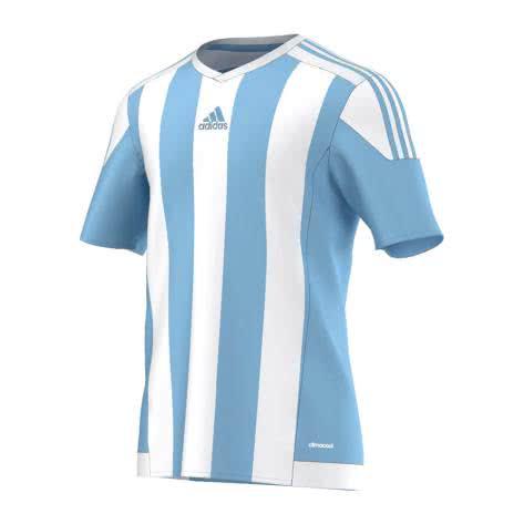 adidas Kinder Trikot Striped 15 clear blue white Größe 116,128,140,164