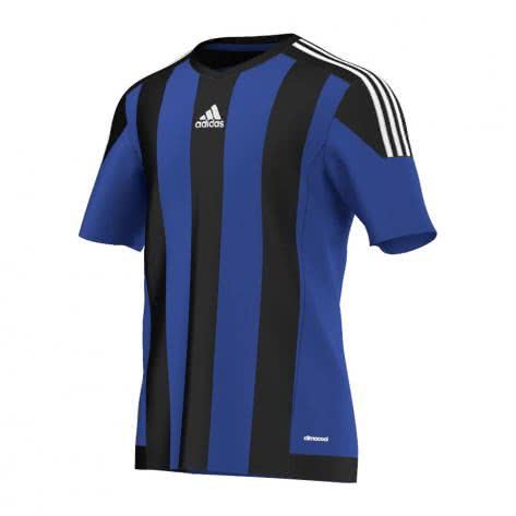 adidas Kinder Trikot Striped 15 bold blue black white Größe 116