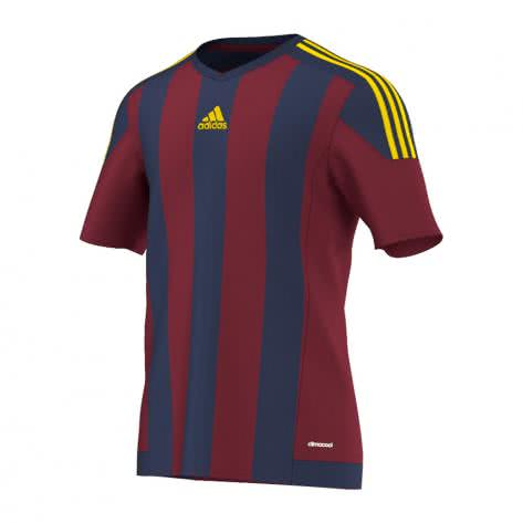 adidas Kinder Trikot Striped 15 collegiate burgundy dark blue yellow Größe 116,128,140,152,164