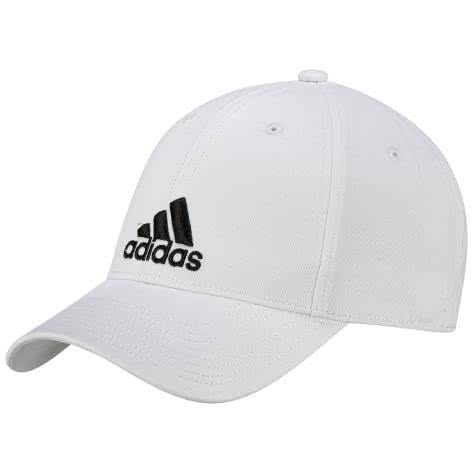 adidas Mütze 6 PANEL CLASSIC CAP COTTON S98150 OSFC white/white/black | Kinder