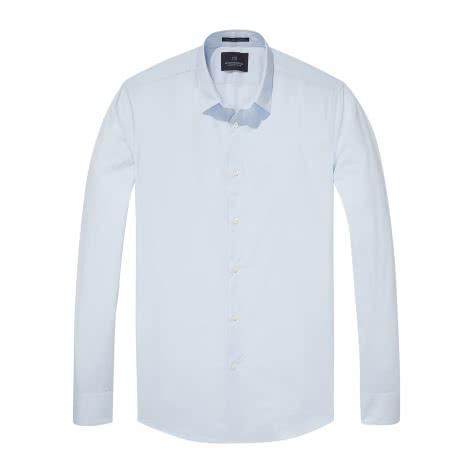Scotch & Soda Herren Langarmhemd Classic Longsleeve Shirt 132837