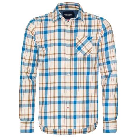 Scotch & Soda Herren Langarmhemd Ams Blauw Checked Shirt 133669-18 S Combo B | S