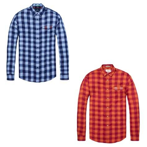 Scotch & Soda Herren Langarmhemd Colourful Check Shirt 142501