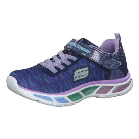 Skechers Mädchen Sneaker S Lights Litebeam Colorburst 10767L Navy Lavender Größe 28,30
