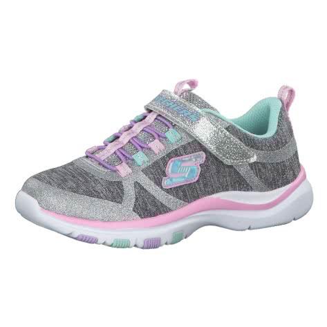 Skechers Mädchen Sneaker Trainer Lite Jazzy Jumper 81485L Gray Mint Größe 28,29,30,31,32,33,34,35