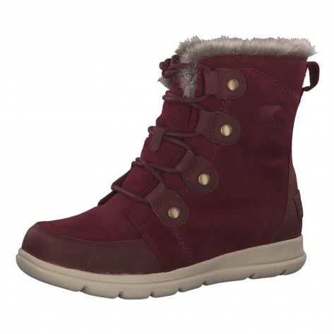 Sorel Damen Winterstiefel SOREL Explorer Joan 1808061-624 41.5 Rich Wine Ancient Fossil | 41.5