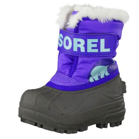 Sorel Kinder Winterstiefel Snow Commander NV1877 Purple Lotus Clear Blue Größe 21