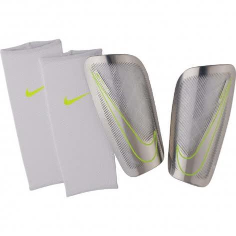 Nike Schienbeinschoner Mercurial Lite SP2086 White/Chrome/Volt/Chrome Größe: L
