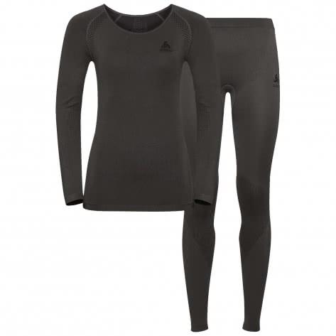 Odlo Damen Sportunterwäsche Essentials Seamless Light Set 194281-10493 XL Odlo Graphite Grey-Black | XL