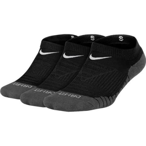 Nike Kinder Sportsocken Dry Cushion No-Show (3 Pair) SX5573-010 34-38 Black/Anthracite/White | 34-38