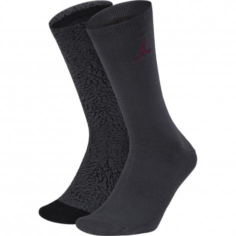 Jordan Herren Socken Elephant Crew Socks (2 Pair) SX5859-060 34-38 Anthracite/Black | 34-38