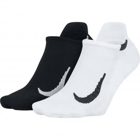 Nike Unisex Laufsocken Multiplier No-Show (2 Pair) SX7554