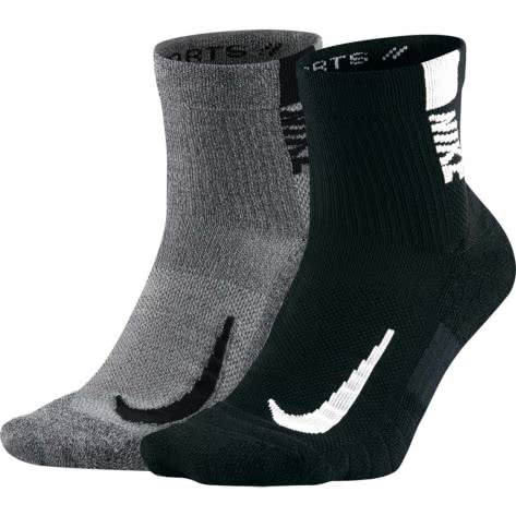 Nike Unisex Laufsocken Multiplier Ankle (2 Pair) SX7556